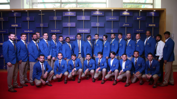 Afghanistan's players attend the BCCI awards ceremony, two days before their historic maiden Test in Bengaluru