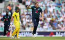 David Willey struck in his first over to remove Travis Head, England v Australia, 1st ODI, Kia Oval, June 13, 2018