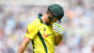 Tim Paine hangs his head after his dismissal