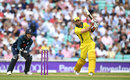 Glenn Maxwell hits down the ground, England v Australia, 1st ODI, Kia Oval, June 13, 2018