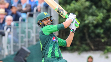 Shoaib Malik clears another six over the leg side boundary