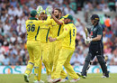 Eoin Morgan fell to Andrew Tye for 69, England v Australia, 1st ODI, Kia Oval, June 13, 2018