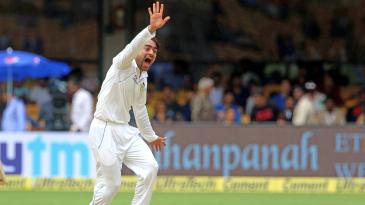 Rashid Khan appeals for a wicket