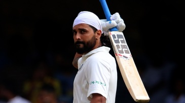 Murali Vijay celebrates his 12th Test century