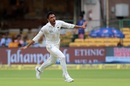 Yamin Ahmadzai takes flight after dismissing KL Rahul, India v Afghanistan, Only Test, Bengaluru, 1st day, June 14, 2018