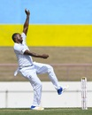 Shannon Gabriel prepares to deliver the ball, West Indies v Sri Lanka, 2nd Test, St Lucia, 1st day, June 14, 2018