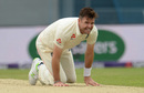 James Anderson grimaces, kneeling on the pitch, England v Pakistan, 2nd Test, day three, Headingley, June 3, 2018