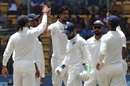Ishant Sharma celebrates with team-mates, Only Test, Bengaluru, 2nd day, June 15, 2018
