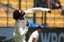 Ravindra Jadeja flings the ball in the air, India v Afghanistan, only Test, Bengaluru, 2nd day, June 15, 2018