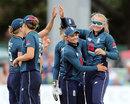 Sophie Ecclestone celebrates a breakthrough, England v South Africa, 3rd women's ODI, Canterbury, June 15, 2018