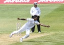 Kasun Rajitha fields off his own bowling, West Indies v Sri Lanka, 2nd Test, Gros Islet, 2nd day, June 15, 2018