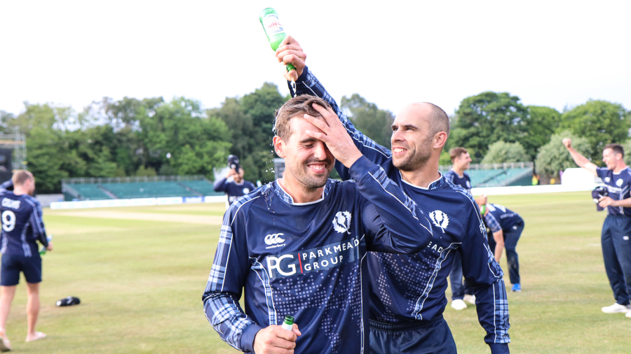 Calum MacLeod (left) is second on the list of players who haven't played a Test who have made the most ODI hundreds