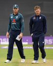 Jos Buttler stepped in as captain with Eoin Morgan suffering a back spasm, England v Australia, 2nd ODI, Cardiff, June 16, 2018