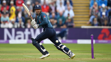 Alex Hales clips off the legs