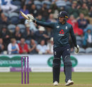 Jason Roy reaches his half-century, England v Australia, 2nd ODI, Cardiff, June 16, 2018