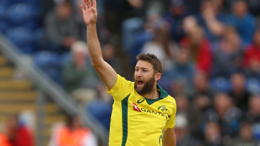 Andrew Tye asks a question