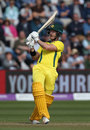 D'Arcy Short pulls through the leg side, England v Australia, 2nd ODI, Cardiff, June 16, 2018