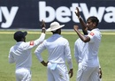 Suranga Lakmal provided Sri Lanka with their opening breakthrough on the third day, West Indies v Sri Lanka, 2nd Test, Gros Islet, 3rd day, June 16, 2018