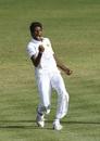 Kasun Rajitha celebrates a wicket, West Indies v Sri Lanka, 2nd Test, Gros Islet, 3rd day, June 16, 2018