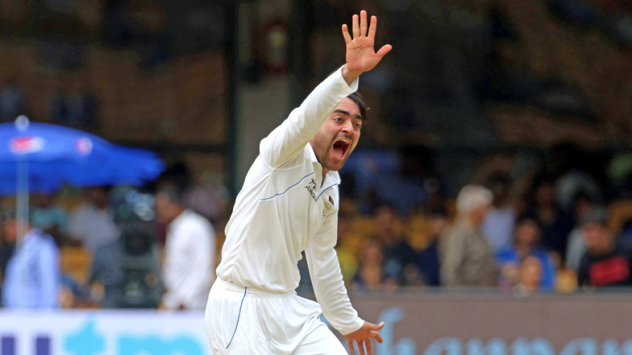 Rashid Khan didn't have much joy in his first Test, finishing with two wickets for 154