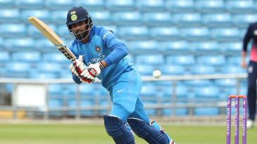 Hanuma Vihari works into the leg side