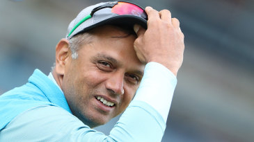 Rahul Dravid watches the India A side