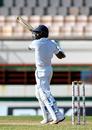Niroshan Dickwella plays an uppercut, West Indies v Sri Lanka, 2nd Test, St Lucia, 4th day, June 17, 2018