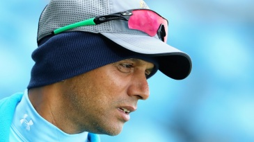 Rahul Dravid watches the India A team play