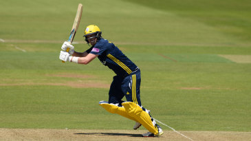 Sam Northeast turns to leg during his half-century