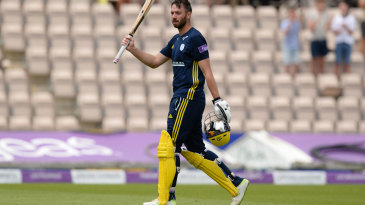 James Vince walks off after making 171 from 126 balls