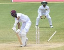 Roston Chase loses his stumps to Suranga Lakmal, West Indies v Sri Lanka, 2nd Test, St Lucia, 5th day, June 18, 2018