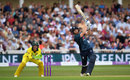 Jonny Bairstow lofts over the off side, England v Australia, 3rd ODI, Trent Bridge, June 19, 2018