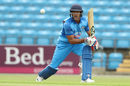 Mayank Agarwal plays a cautious forward defence, India A v ECB XI, June 16, 2018