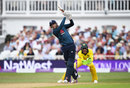 Alex Hales hits high down the ground, England v Australia, 3rd ODI, Trent Bridge, June 19, 2018