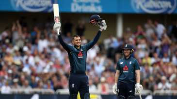 Alex Hales brought up his sixth ODI hundred