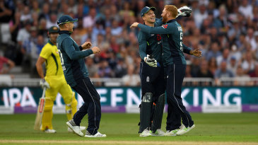Jos Buttler and Jonny Bairstow celebrate another wicket