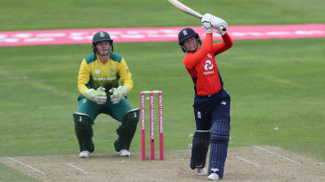 Tammy Beaumont drills another six