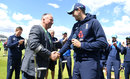 Craig Overton receives his ODI cap from Ian Botham, England v Australia, 4th ODI, Chester-le-Street, June 21, 2018