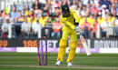 Marcus Stoinis was bowled by Mark Wood, England v Australia, 4th ODI, Chester-le-Street, June 21, 2018