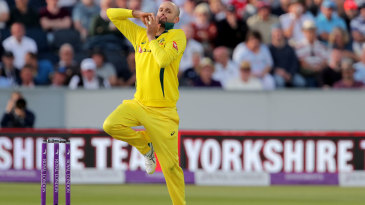 Nathan Lyon was making his first ODI appearance in two years