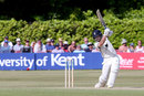 Joe Denly drives during his hundred, Kent v Warwickshire, Specsavers Championship, Division Two, Tunbridge Wells, June 21, 2018