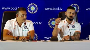 Ravi Shastri and Virat Kohli address a press conference