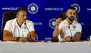Ravi Shastri and Virat Kohli address a press conference, New Delhi, June 22, 2018