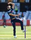 Tom Helm in delivery stride, England Lions v India, Tri-series, Derby, June 22, 2018