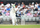 Keaton Jennings drives through the covers, Lancashire v Essex, Specsavers Championship, Division One, Old Trafford, June 9, 2018