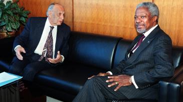 Jamsheed Marker with the then UN Secretary-General Kofi Annan