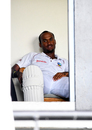 Kraigg Brathwaite in the West Indies dressing room, West Indies v Sri Lanka, 2nd Test, Gros Islet, 5th day, June 18, 2018