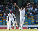 Lahiru Kumara appeals for lbw, West Indies v Sri Lanka, 3rd Test, Bridgetown, 1st day, June 23, 2018