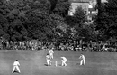 Mushtaq Ali pulls the ball over wicketkeeper Syd Buller, Worcestershire v Indians, Worcester, 1st day, May 4, 1946