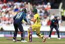 Aaron Finch missed a pull at Moeen Ali and was bowled, England v Australia, 5th ODI, Old Trafford, June 24, 2018